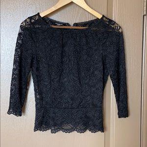 BeBe Lace Black Top, Size S/P